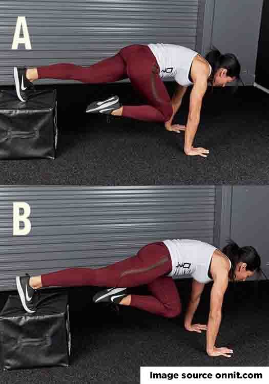 Woman hiit workout