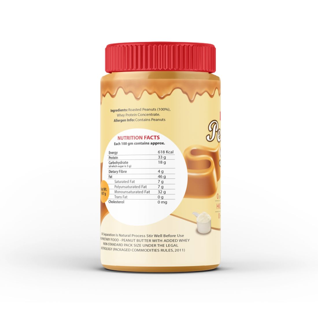 Endura peanut butter with added whey back